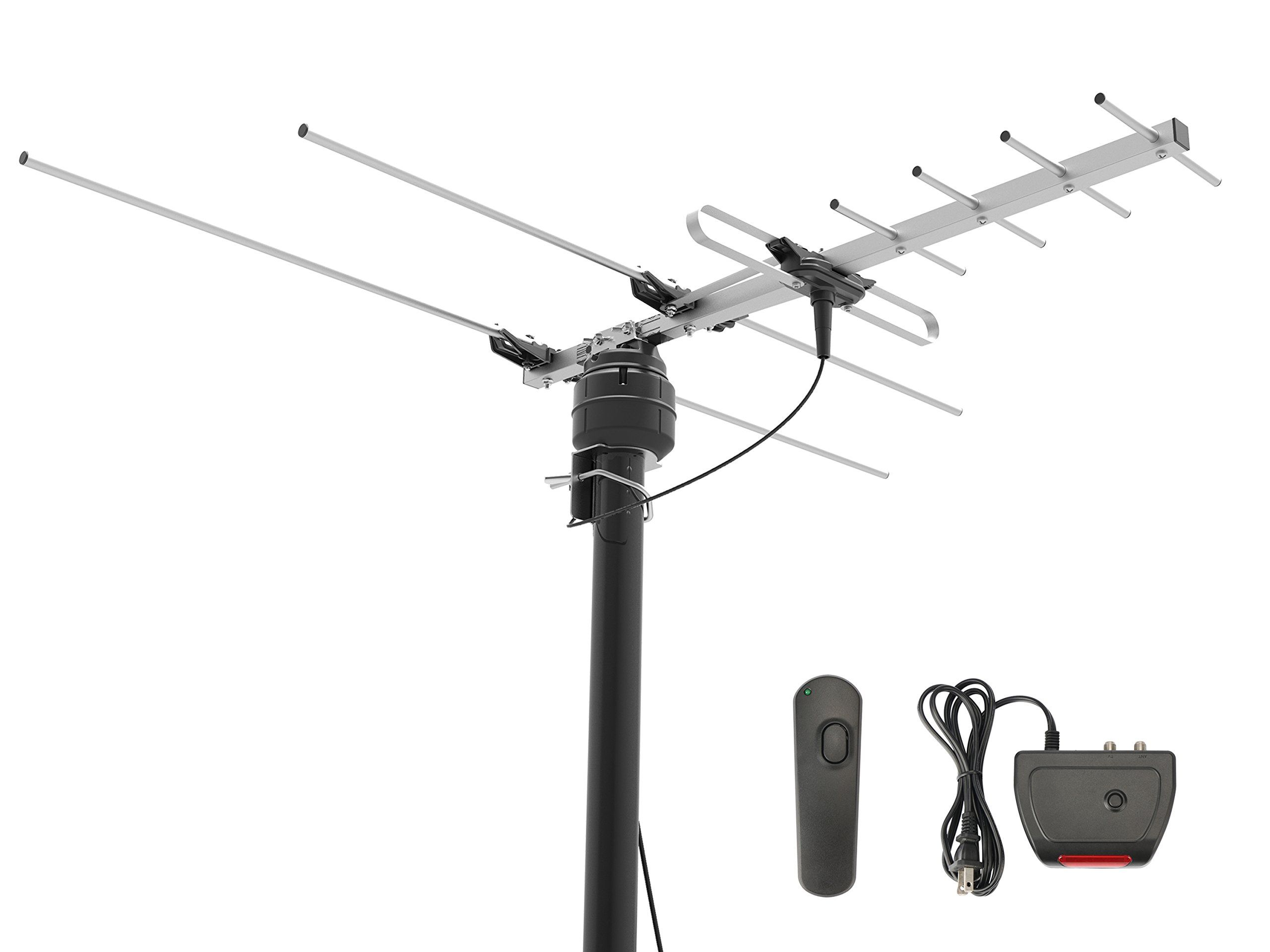 1byone 60 Miles Digital Outdoor Roof Hdtv Antenna With Motorized