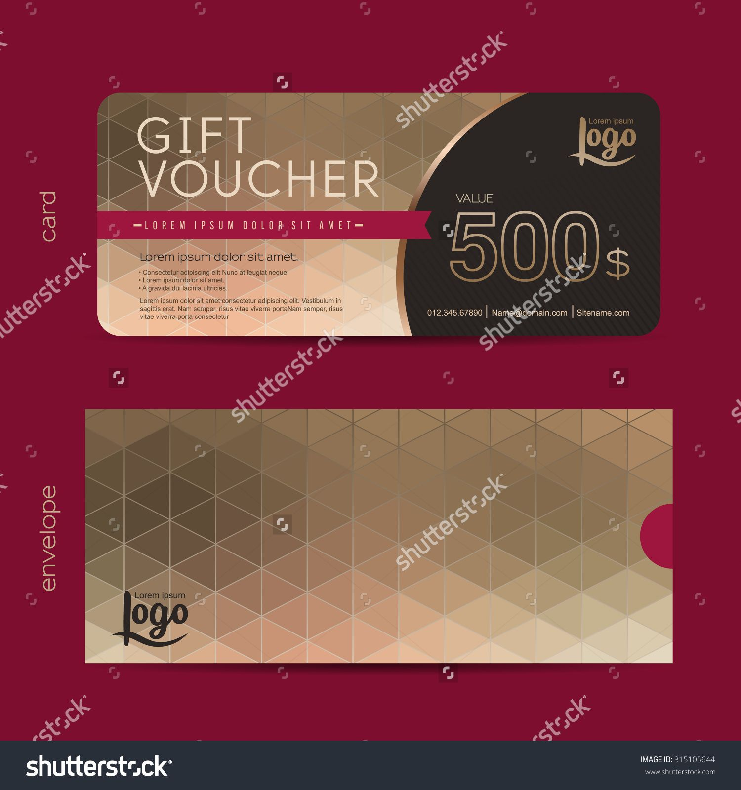 Gift Voucher Template With Premium Pattern,gift Voucher Certificate Coupon  Design Template,Collection Gift  Coupons Design Templates