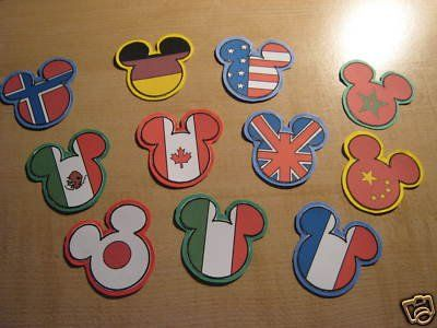 Mickey ears by country - I have no idea when I could use them, but they just seemed too cool not to pin ;)