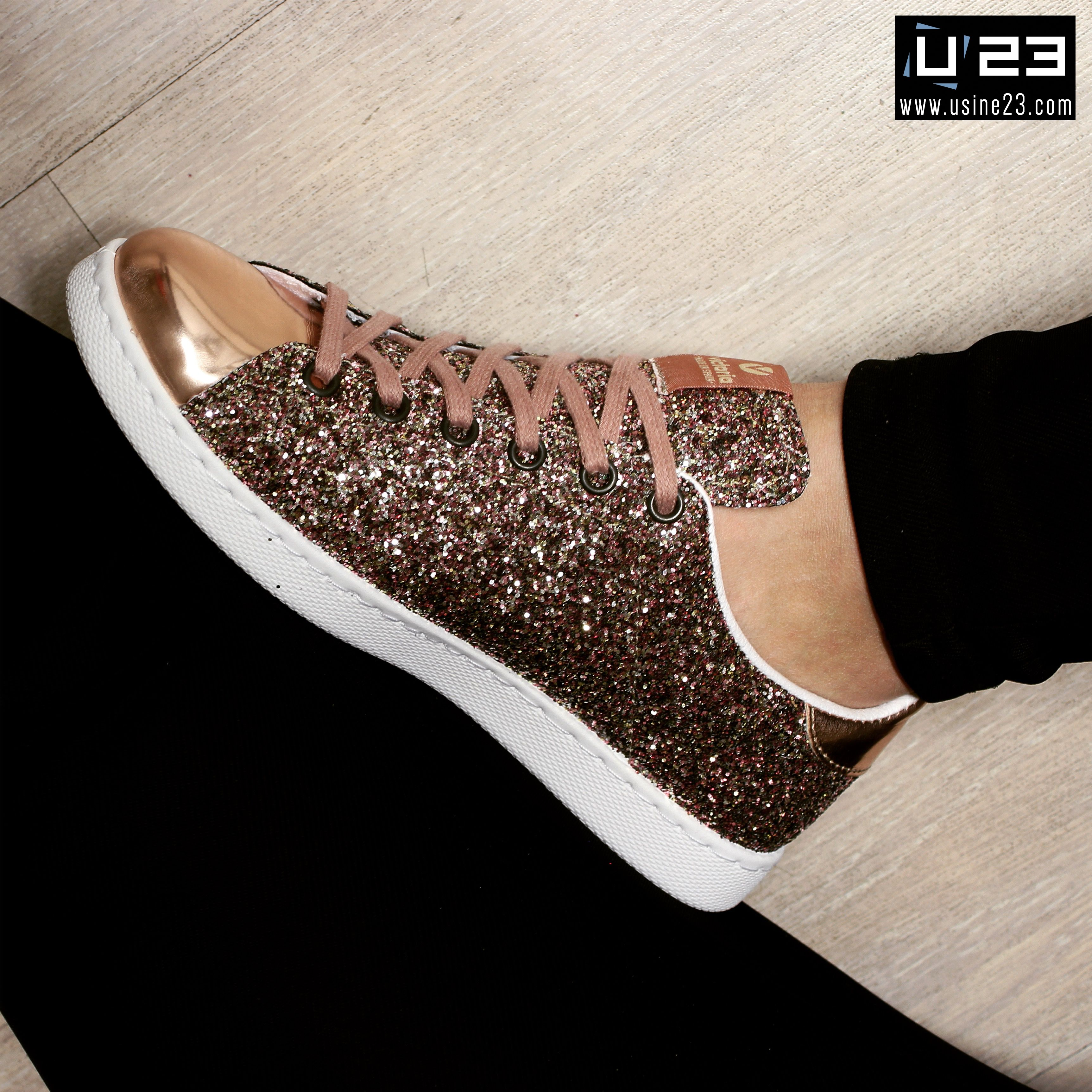 bf3e25d0151 Sneakers Femme - Victoria Deportivo Basket Glitter
