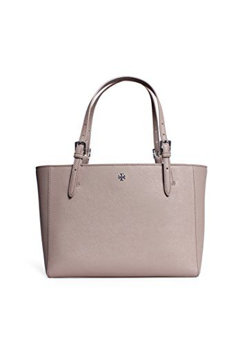 2e3ebd921e22 Tory Burch Small York Buckle Tote Handbag in French Gray