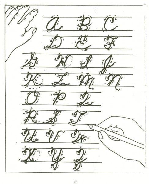 cursive abc chart