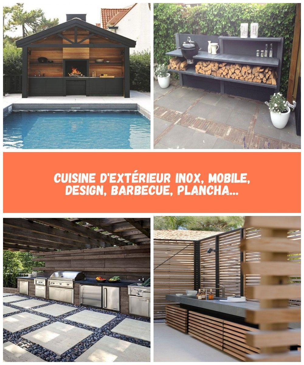Cuisine D Exterieur Inox Mobile Design Barbecue Plancha