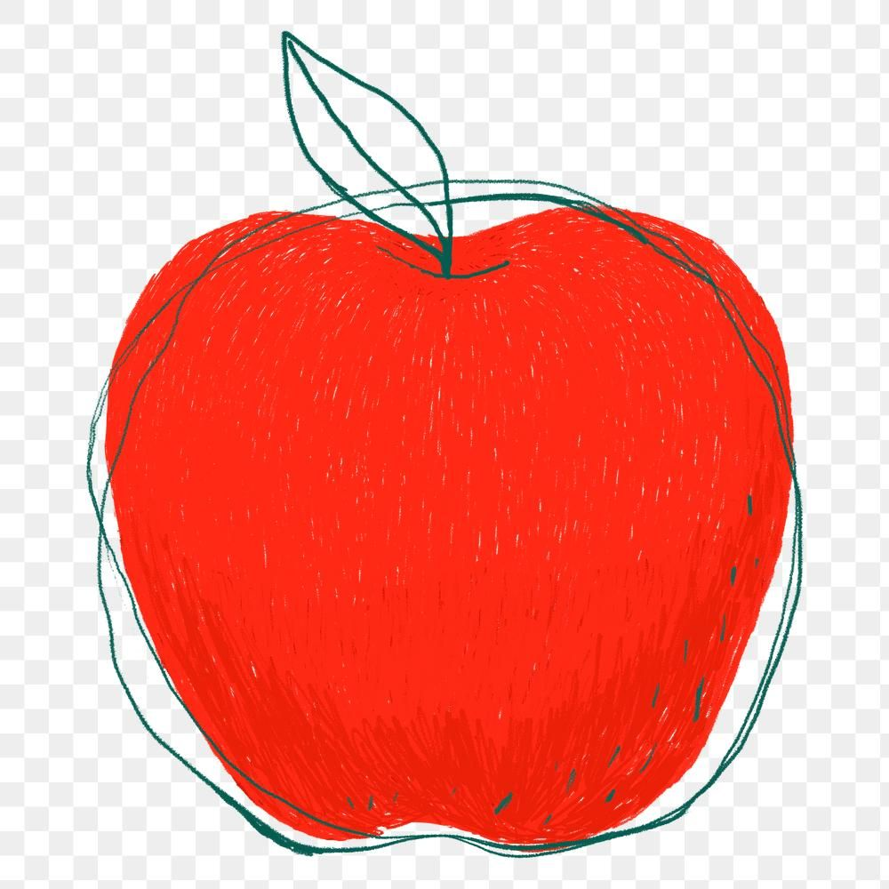 Doodle Art Red Apple Png Sticker Free Image By Rawpixel Com Namcha Doodle Art Red Apple Free Png