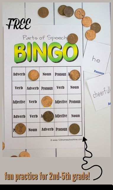 picture regarding Parts of Speech Printable Games named No cost Elements of Speech BINGO Jenny 5th Elements of speech