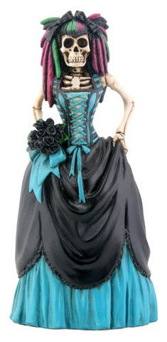 Gothic Bride hand painted statue