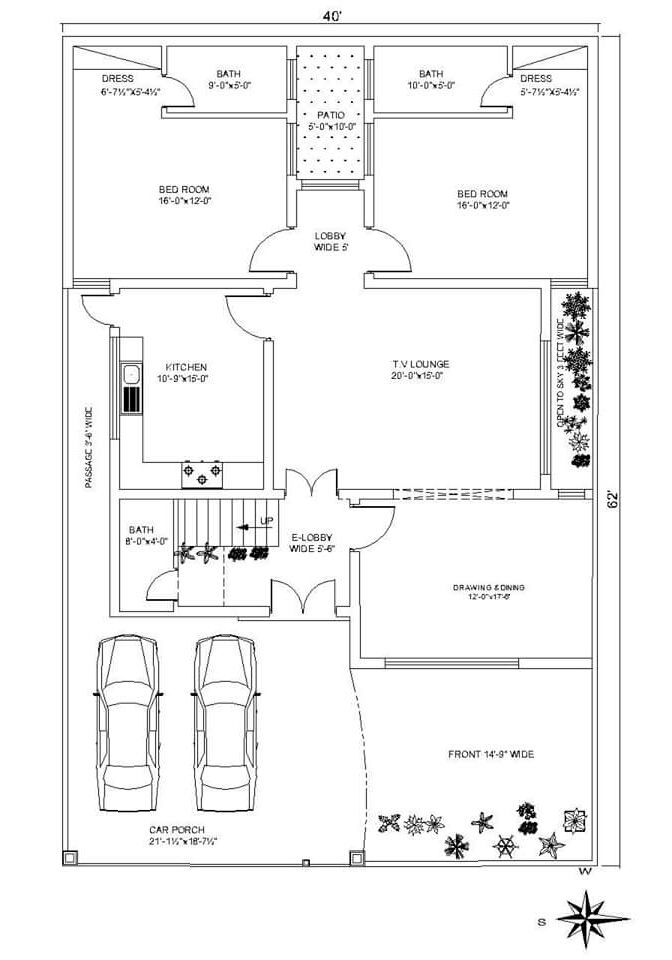 House Plan 10 Marla House Plan House Plans Indian House Plans