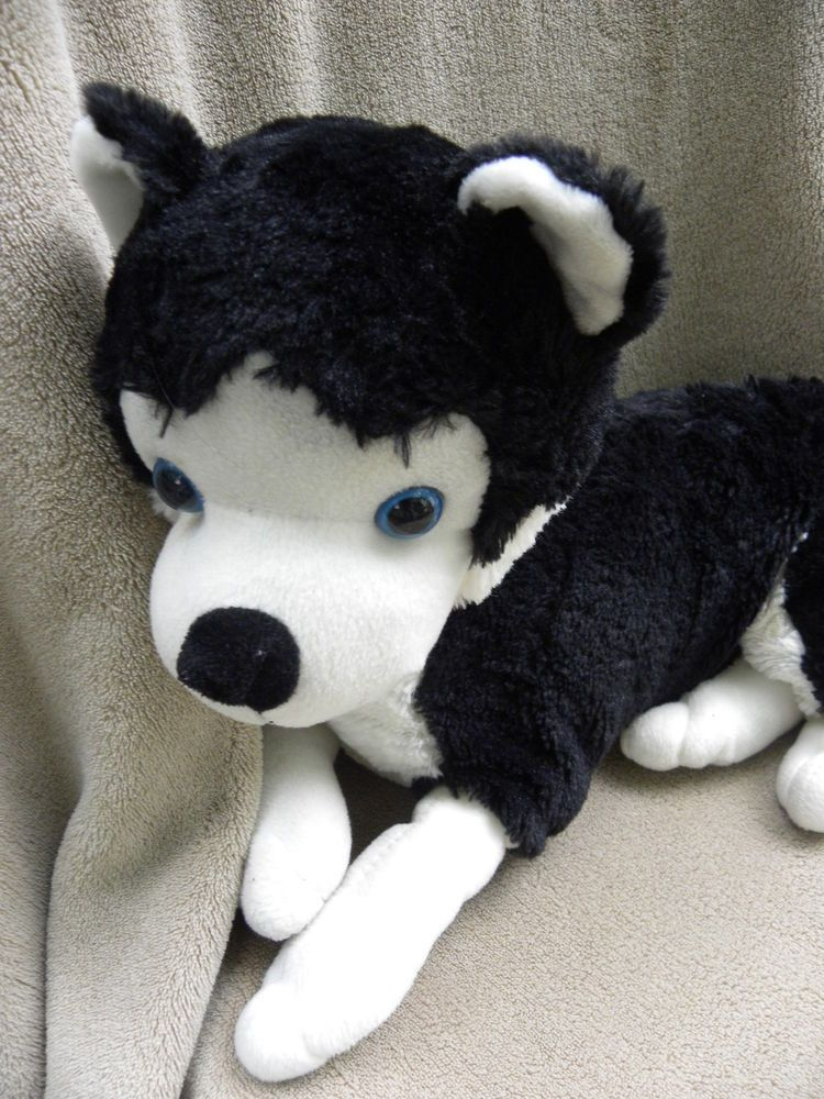 Siberian Husky Plush Dog Puppy Soft Toy Stuffed Animal Black White