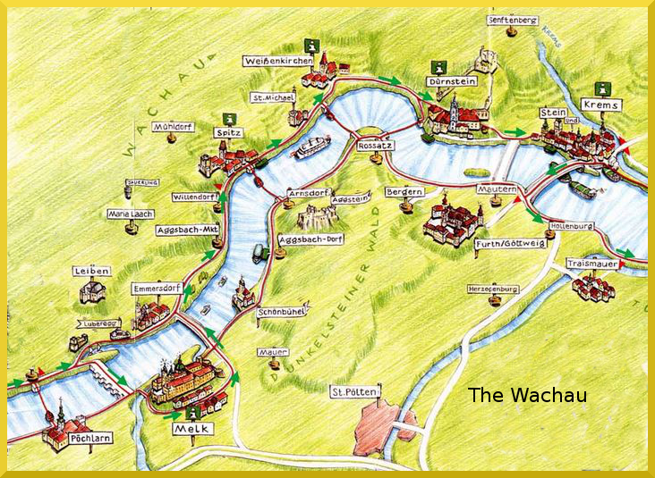 wachau valley map - Google Search