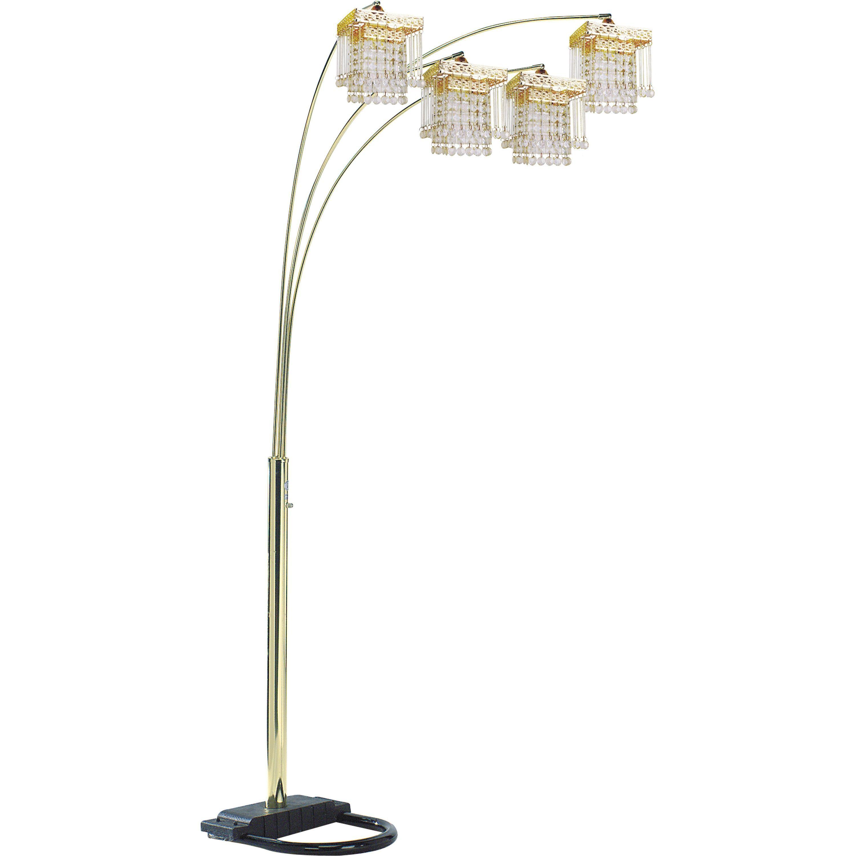 Qmax Tone Faux 84 Inch 4 Light Adjustable Floor Lamp