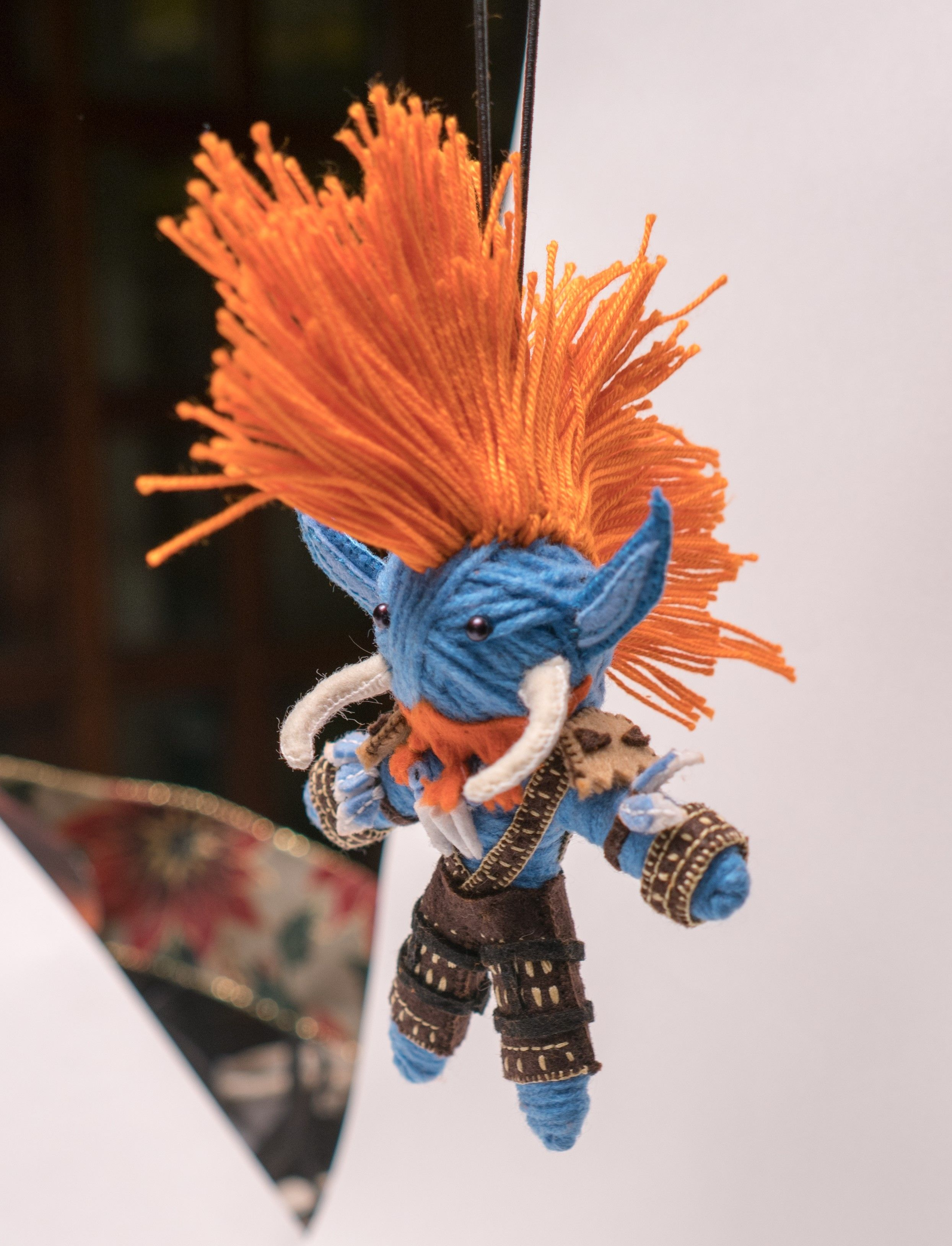 I made a Vol'jin doll for my boyfriend as his christmas gift. #worldofwarcraft #blizzard #Hearthstone #wow #Warcraft #BlizzardCS #gaming