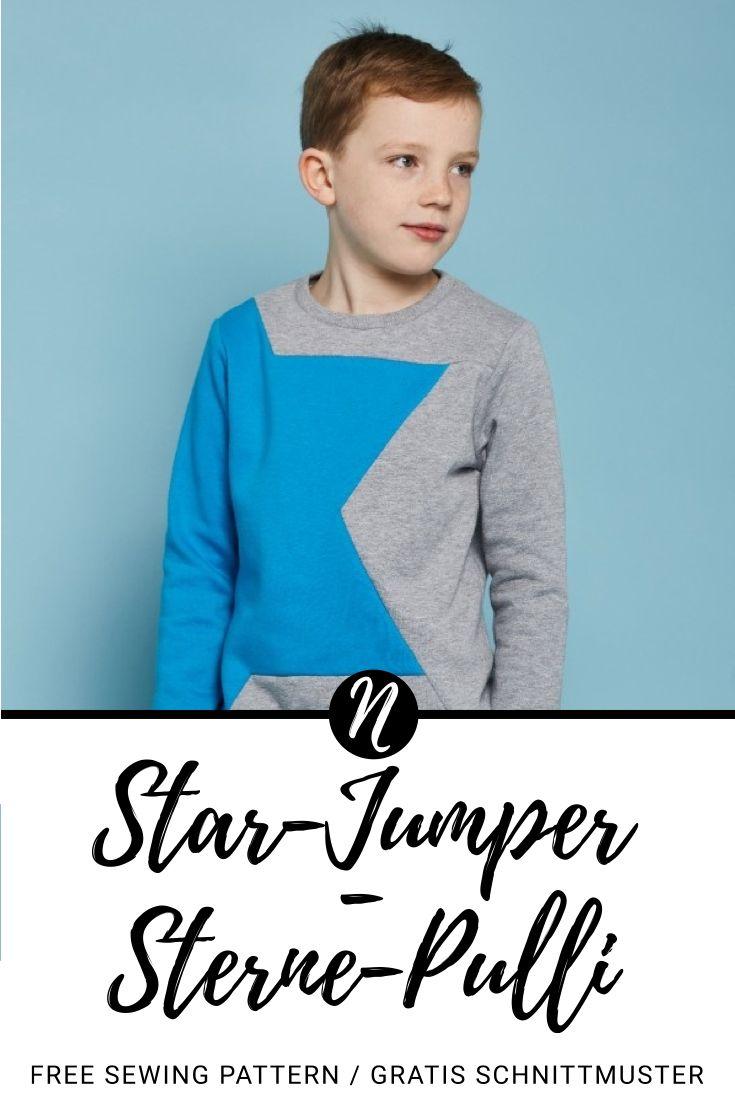 Colorblock-Sweatshirt mit Stern | Kinderpullover, Ausdrucken und Sterne
