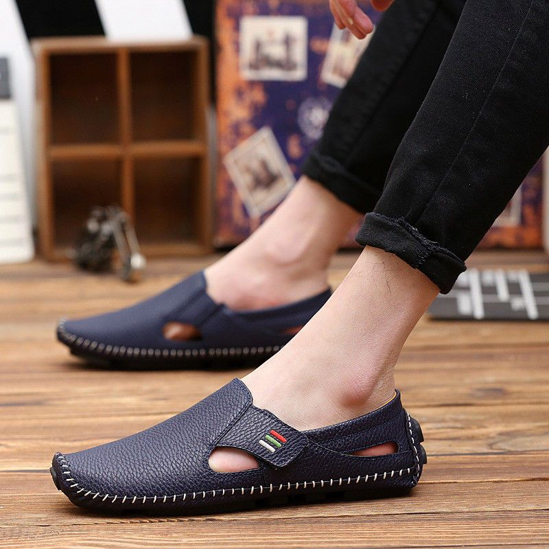 Men/'s Casual Leather Shoes Driving Lazy Loafers Peas Moccasins Slip on Flats