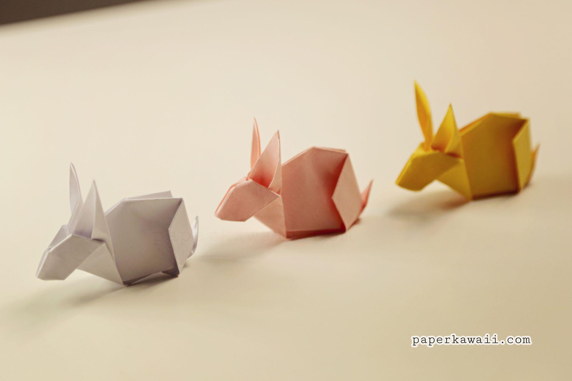 Origami Bunny Rabbit Tutorial Diagram Pinterest Bunny Rabbit