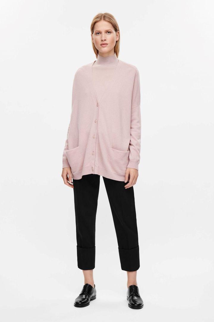 7c4272aafc5e COS image 11 of Oversized wool cardigan in Powder Pink   Knitwear ...