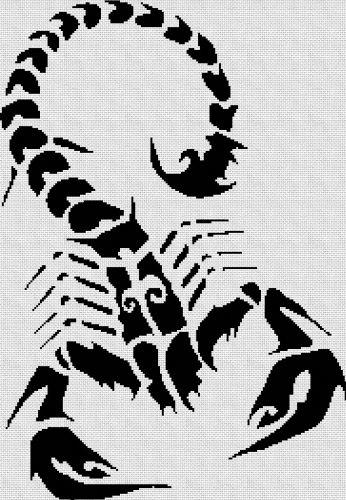 Escorpion Tribal En Punto De Cruz Tatuaje De Escorpion Escorpion Tribal Punto De Cruz