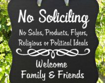 No Soliciting Sign, Welcome Sign, Family, Friends, Front Door Sign, Home