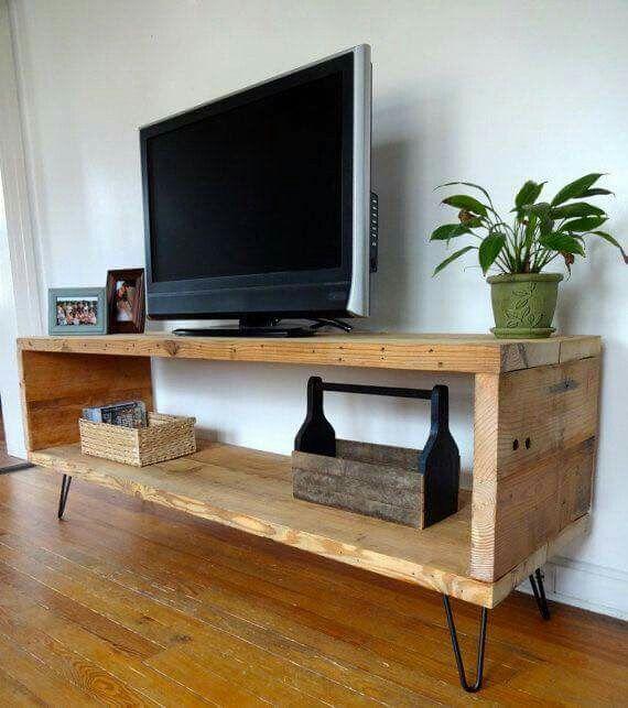 Rack tv rustico Atelier Pinterest Tv, Mueble tv y Sala de estar - muebles en madera modernos