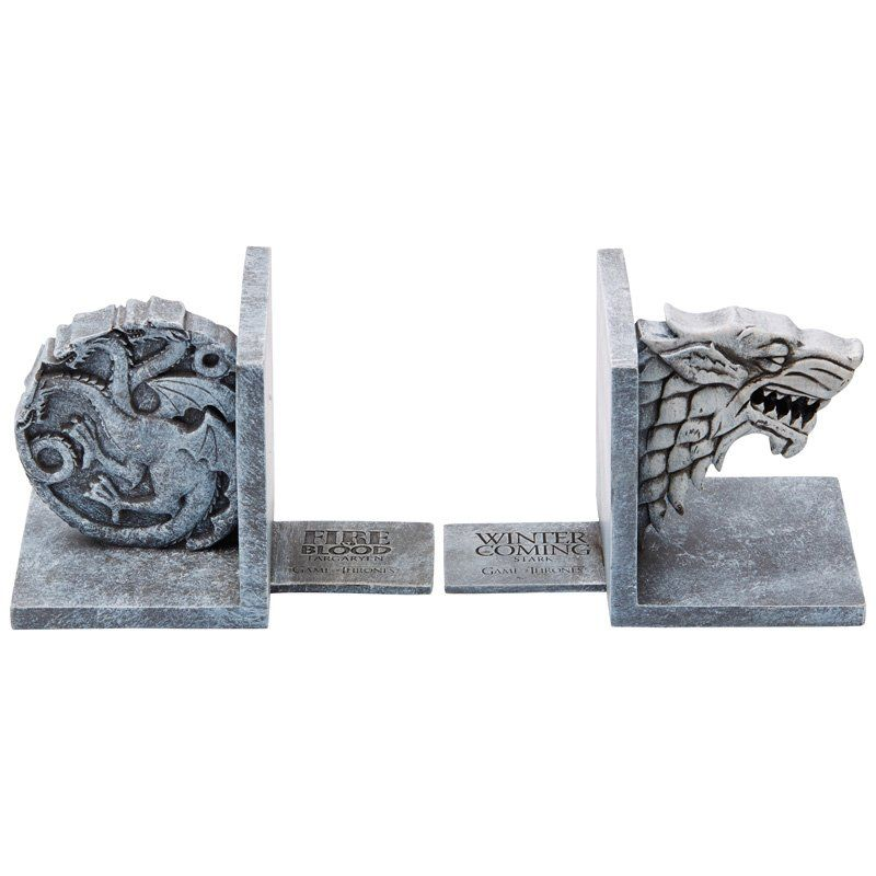 game of thrones bookends bookshelves pinterest gaming