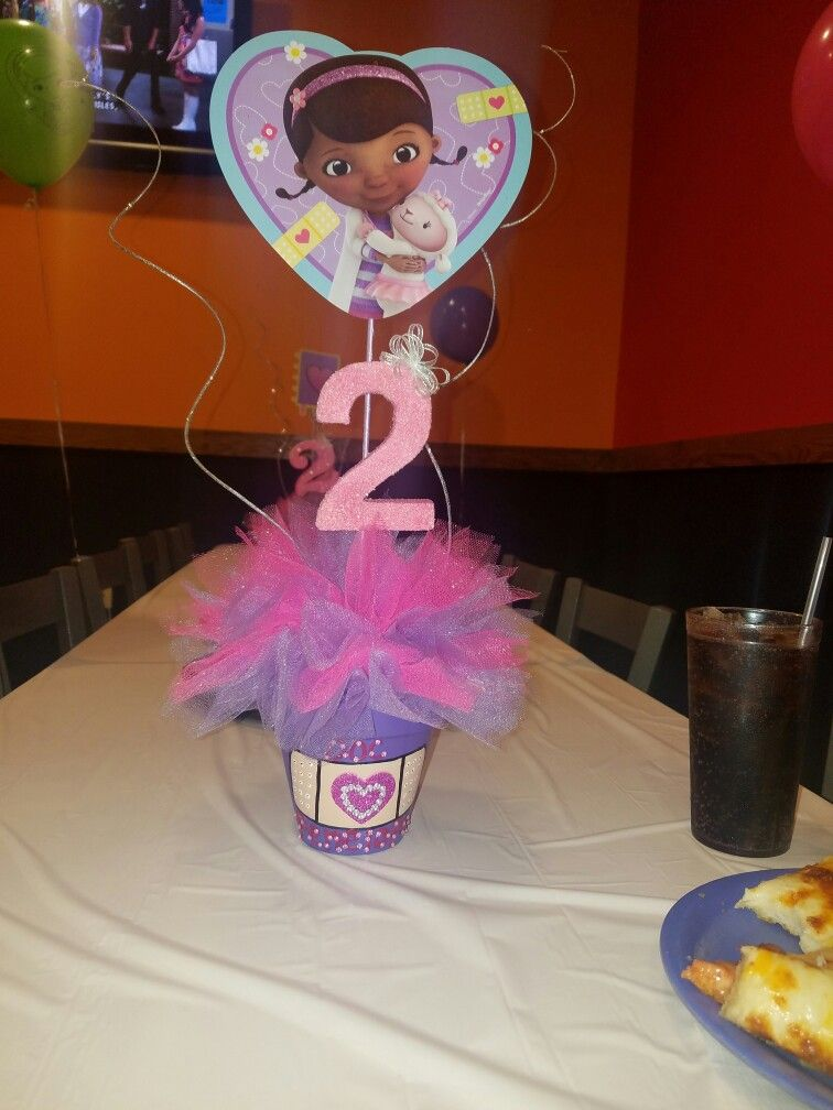 Doc Mcstuffins Table Decorations Penelope S 2nd Birthday