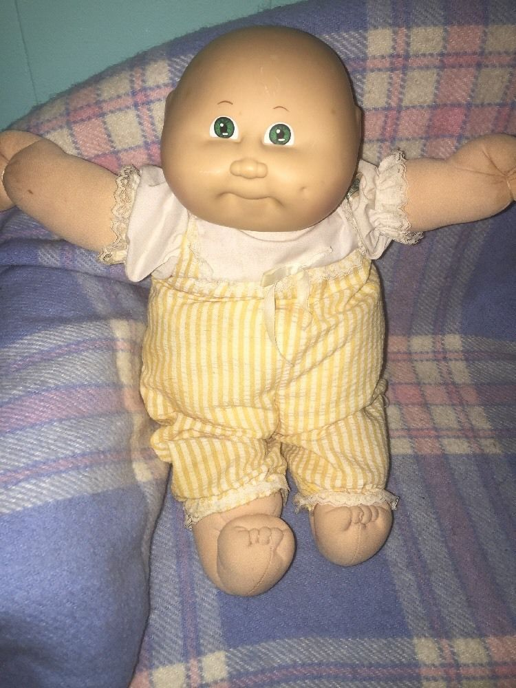Vtg Cabbage Patch Kids Preemie Girl Green Eyes Hm3 Black Sig Doll 3 Cabbage Patch Kids Cabbage Patch Dolls Cabbage Patch