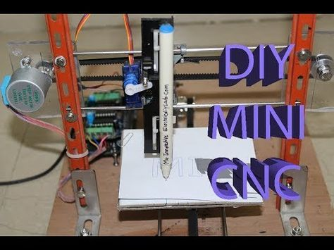 How To Make Mini Home Made Cnc Machine Arduino 28bjy 48 Stepper Motor Youtube Electronics Projects Diy Diy Cnc Router Cnc