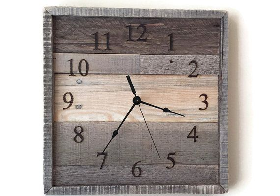 Hey, I found this really awesome Etsy listing at https://www.etsy.com/listing/279857240/pallet-wall-clock-rustic-home-decor