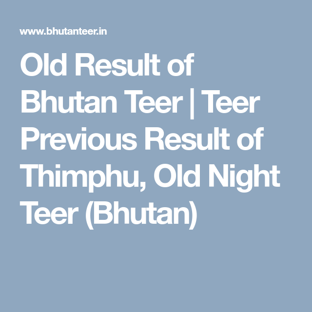 Get 120 days old teer results here  We have list of previous