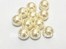 Factory Cena 20mm 100ks / lot Beige Akryl ABS Pearl korálky Fit Zavalitý náhrdelník (Čína (pevninská časť))
