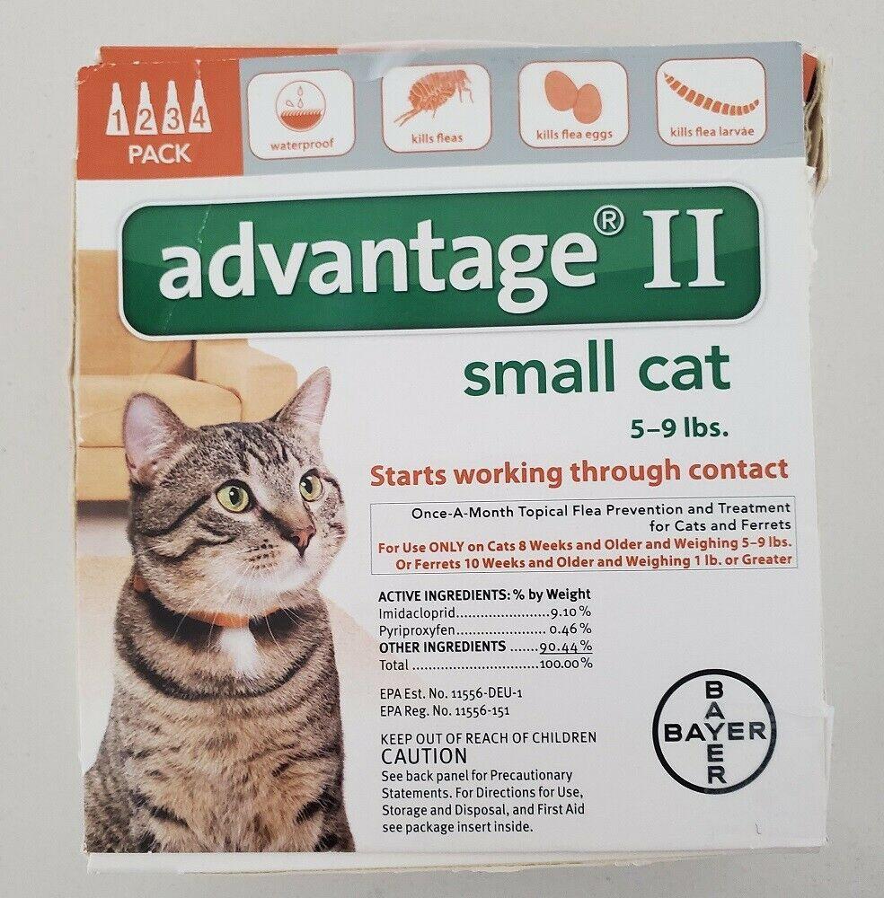 Bayer Advantage Ii Flea Prevention For Small Cats 5 9 Lbs 6 Pak