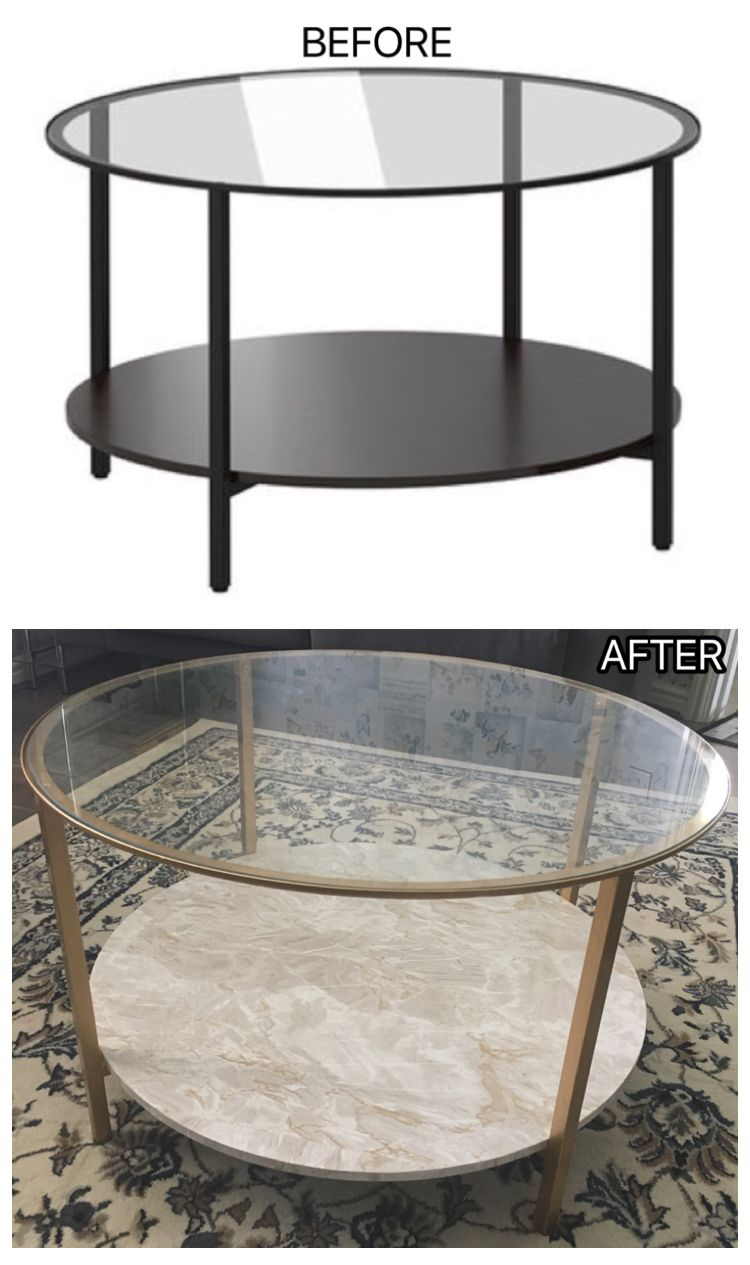Ikea Coffee Table Got The Spray Paint Idea From Youtube But Sticking Marble Effect Plastic Fablon Onto The Ikea Coffee Table Coffee Table Hacks Coffee Table [ 1265 x 750 Pixel ]