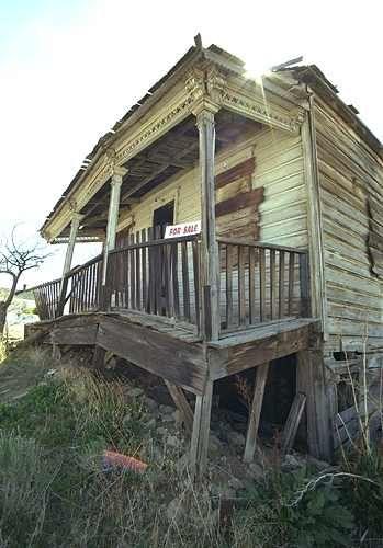 Abandoned House Falling Apart Virginia City, NV