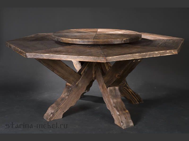 Разнообразные деревянные столы под старину из дерева сделаны добротно и прослужат вам долгие годы!