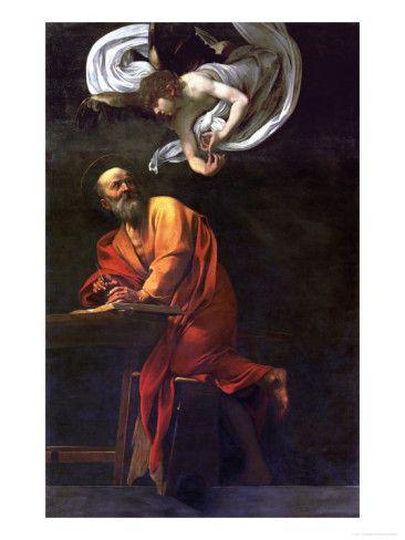 Saint Matthew Writing Inspired By An Angel 1600 1602 Gobelins