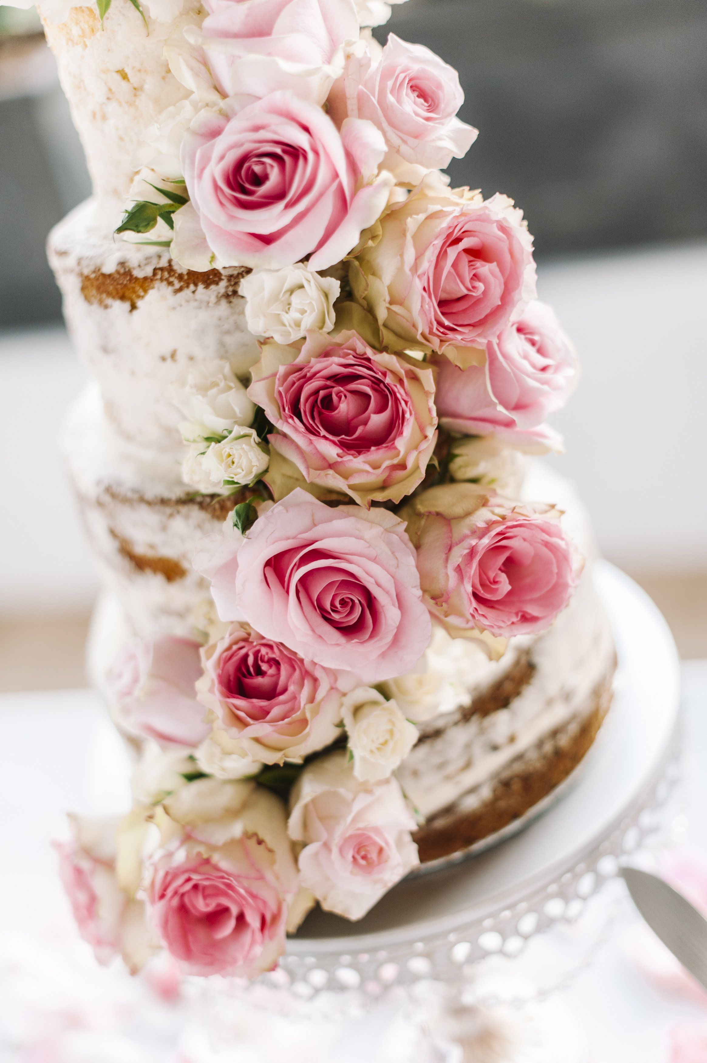 Naked cake roses | Beautiful edibles | Pinterest | Cake