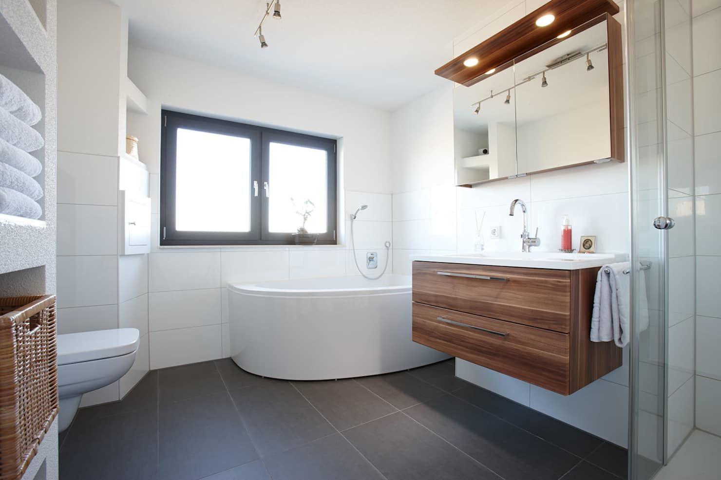 Architektur trend – das badezimmer mit eckbadewanne moderne