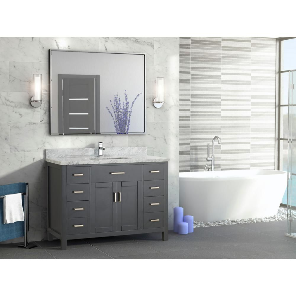 Awe Inspiring Art 48 Inch Bathroom Vanity Vanity In French Pepper Gray Download Free Architecture Designs Scobabritishbridgeorg