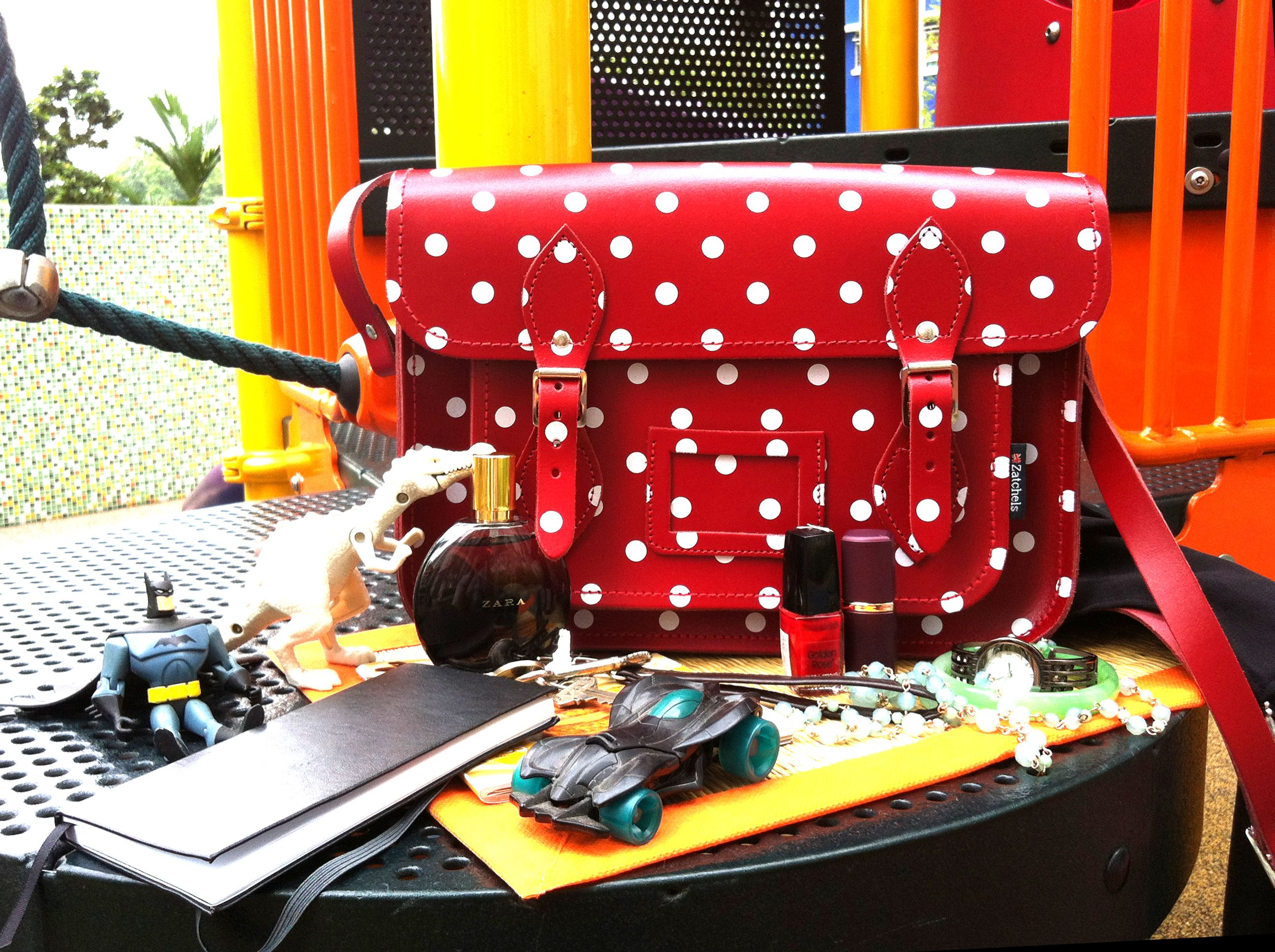 Our Red Polka Dot Satchel Is Roomy Enough To Store Your Kids Toys A Notepad Or Recipe Book And Still Have Space For Some Of Makeup