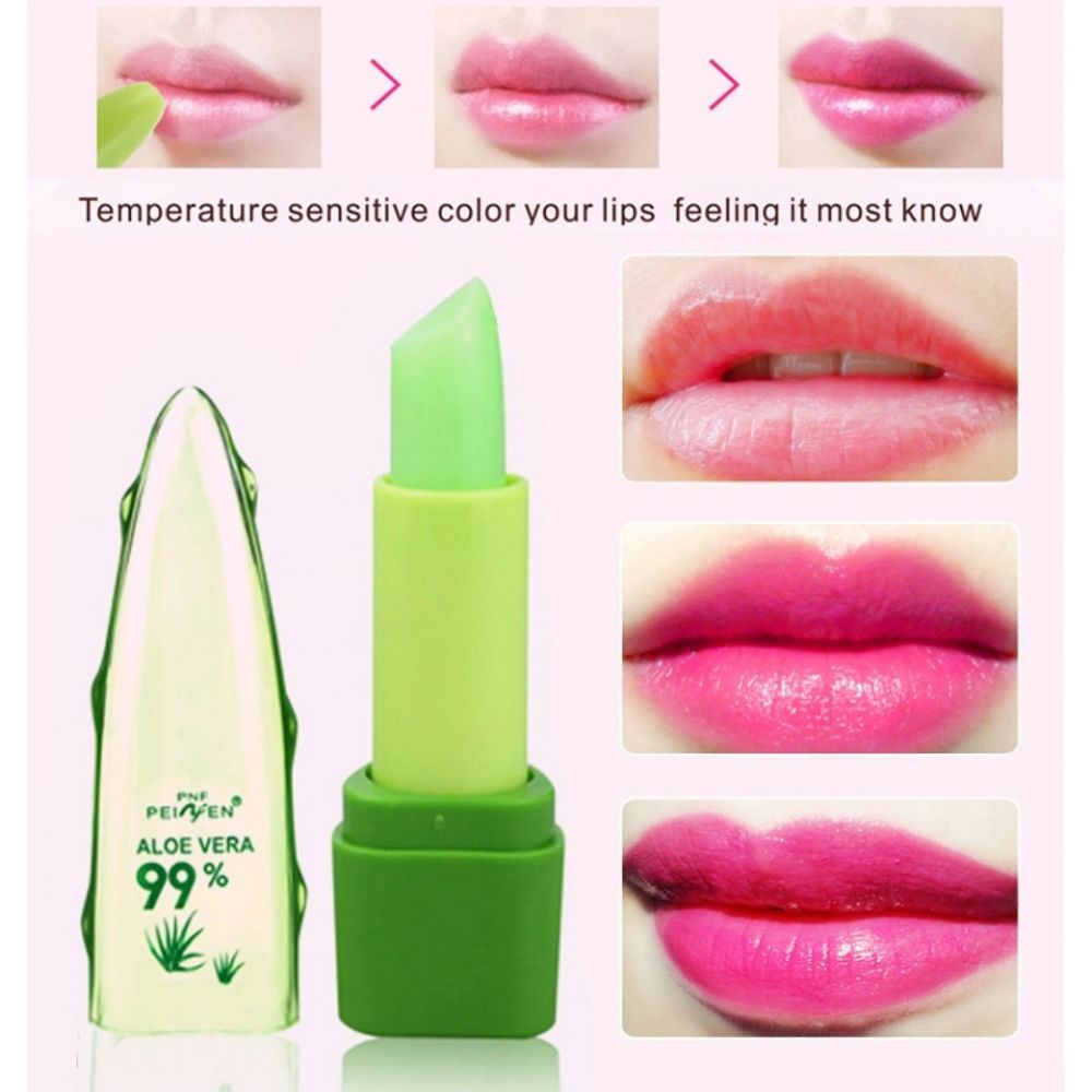 Change Color Lipstick Aloe Vera Essence Lips Moisturizer