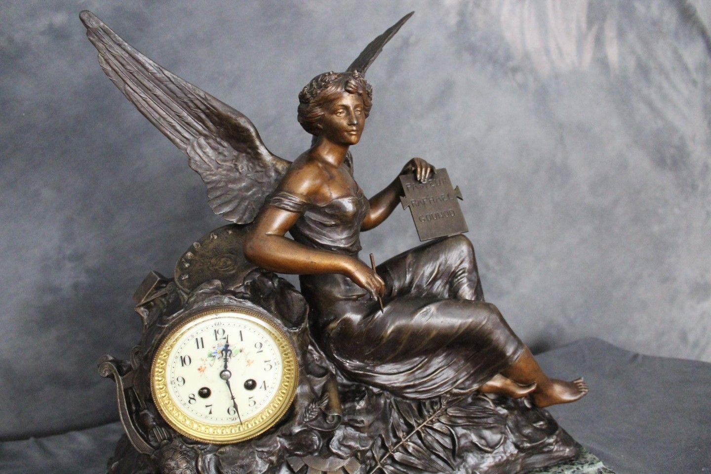 Zegar Kominkowy Z Anielicą Z Xix W Francja Cudo
