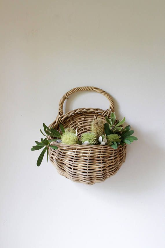 Your Place To Buy And Sell All Things Handmade Baskets On Wall Wall Planter Wicker