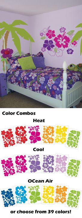 Hawaiian Style Bedroom: Super Cute For Trin's Room :)