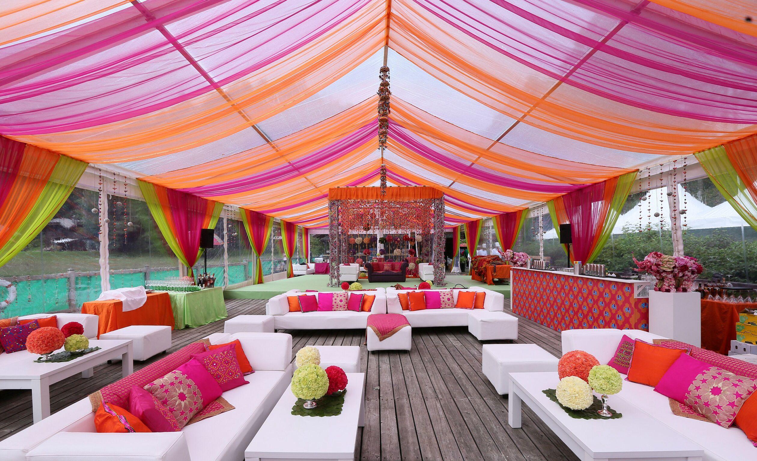 Resort Wedding ceremony or Mehndi ceremony ideas for