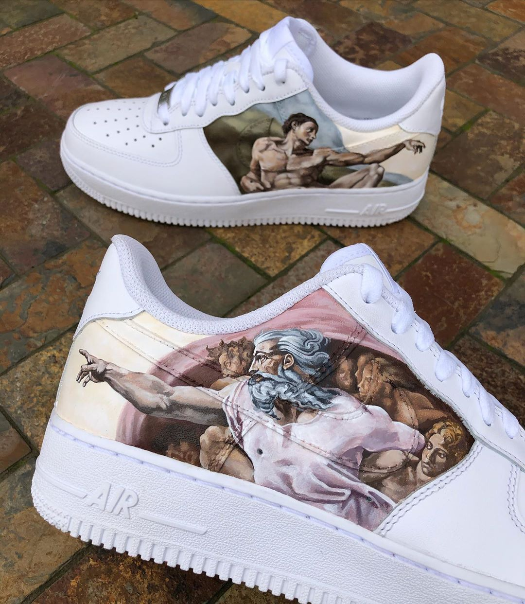 Adam's Creation Michelangelo Custom Nike Air Force one