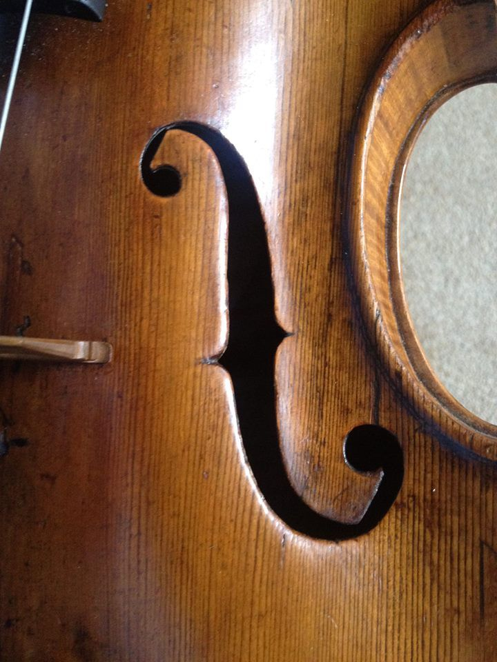 An absolutely outrageous viola! Very right in so many ways that are wrong! Guess the maker, anyone?