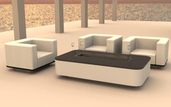 Dubai Gas Fire Table by Rivelin | Product