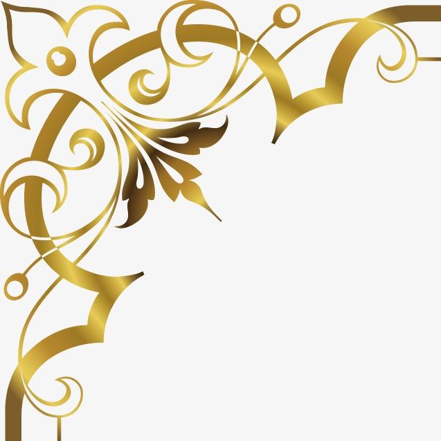 Golden Corners Without Background Google Search Border Design Corner Designs Art