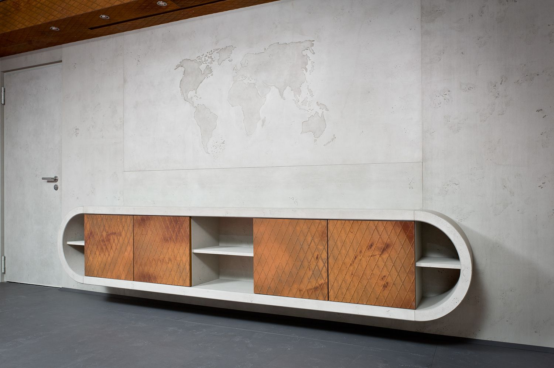 Materials Inc Aria Thin Concrete Sheets Wall Panels Concrete Industrial Decor