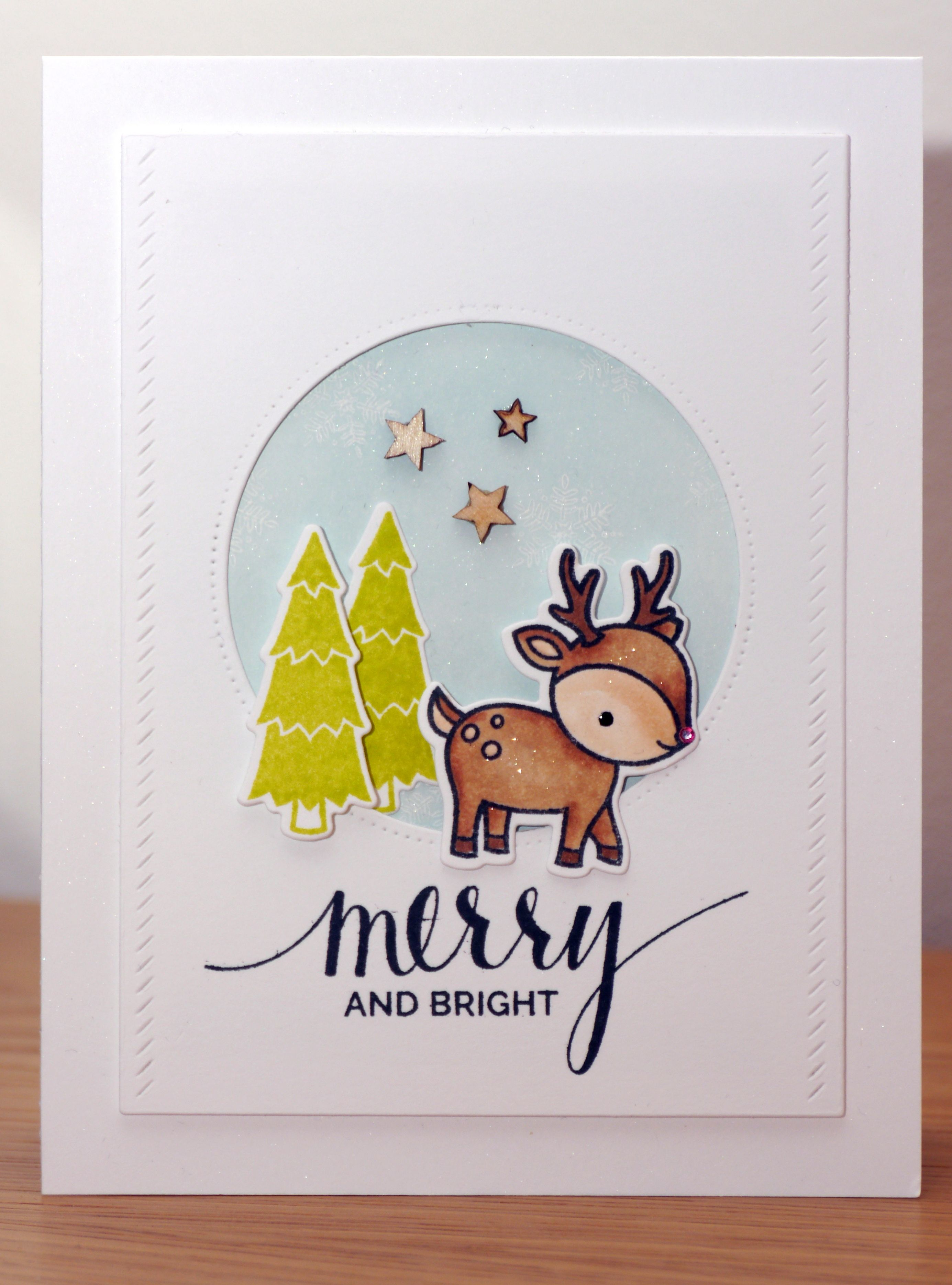 Lawn Fawn Toboggan Together and My Favorite Thnings Hand Lettered Holiday