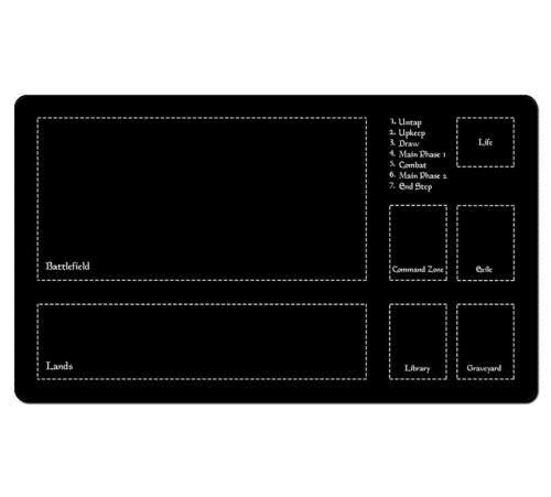 Graveyard PLAY MAT ULTRA PRO FOR MTG CARDS Single Player Battlefield Turn Phase